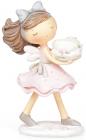 """Фігурка декоративна """"Дівчинка з тортиком"""" 17см"""