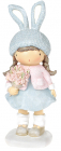 Статуэтка декоративная «Девочка в шапке-зайке» 7.8х7.4х20.7см, голубой с розовым