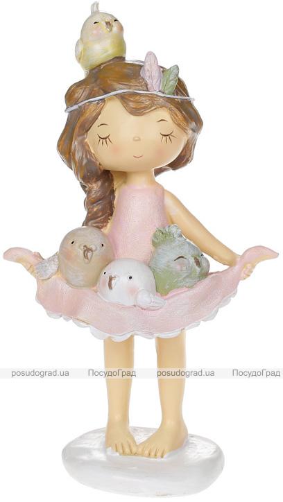"""Статуетка декоративна """"Дівчинка з Пташенятами"""" 11.5х7.5х20см"""