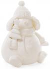 """Декоративна керамічна статуетка """"Сніговик"""" 18см з LED-підсвіткою"""