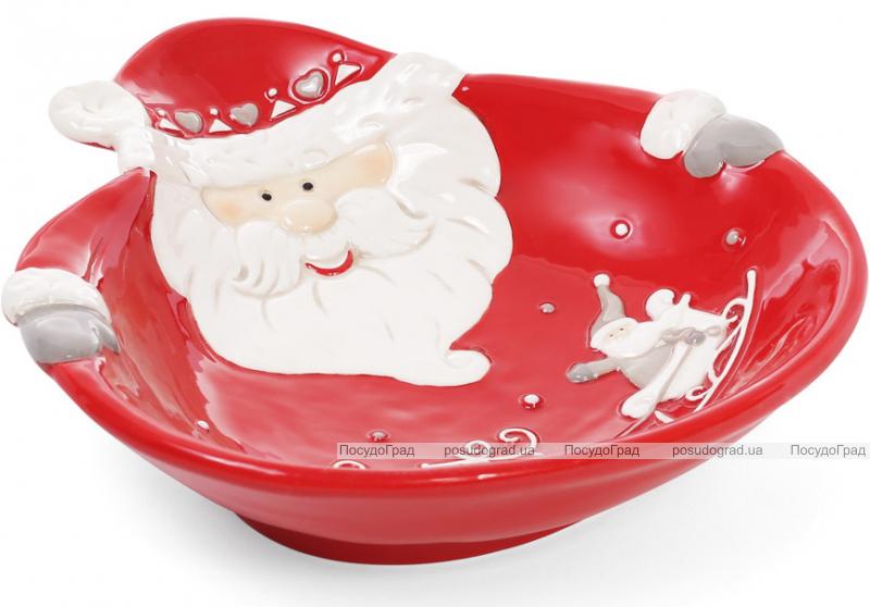 """Набор 2 керамические пиалы """"Санта"""" 21см, красные"""