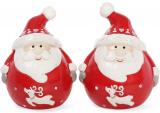 """Набор для специй """"Санта"""" 6.3х5.3х7.9см (солонка/перечница)"""