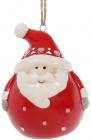 """Новогодняя статуэтка-подвеска """"Санта"""" 6.4см"""