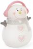 """Новогодняя статуэтка-копилка """"Снеговик в сером шарфе"""" 17см"""