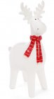 Фигурка декоративная Олень в красном шарфе 23.8см