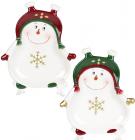 Набор 6 керамических тарелок «Озорной снеговик» 14.8х12.7см