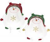 Набор 4 керамические пиалы «Озорной снеговик» 370мл