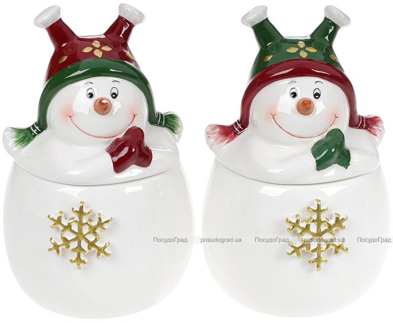 Банка керамическая «Озорной снеговик» 350мл