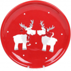 Набор 2 керамических тарелки «Дружные Олени» Ø21.5см