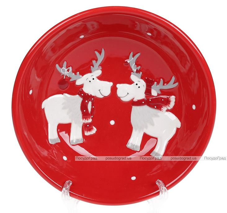 Набор 4 керамические пиалы «Дружные Олени» 550мл