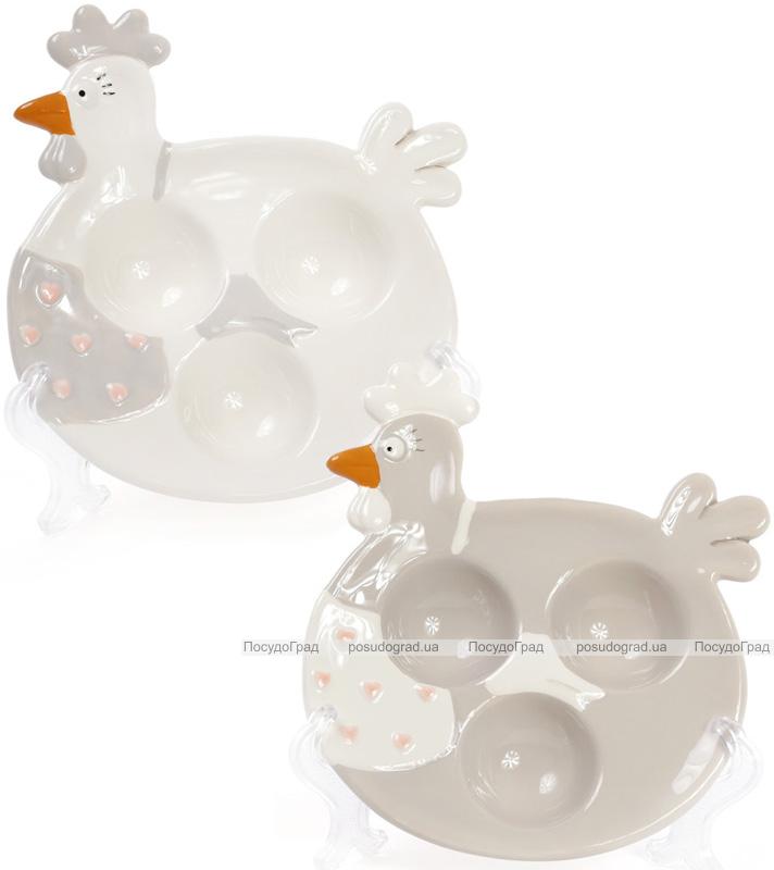 """Тарелка """"Курочка"""" для яиц (3 ячейки)"""
