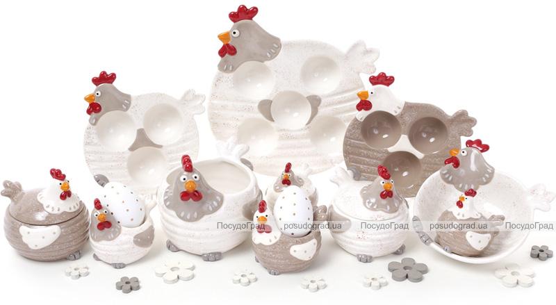 """Блюдо """"Курочка"""" подставное для 5-ти яиц (пасхальное блюдо) Ø21см"""