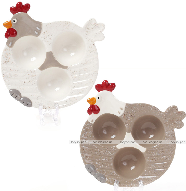 """Блюдо """"Курочка"""" підставне для 3-х яєць (пасхальне блюдо) Ø15см"""