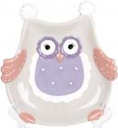 "Набір 4 блюда ""Owl Family"" 18.9см кераміка (десертні тарілки)"