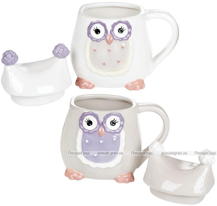 """Кружка """"Owl Family"""" 400мл с керамической крышкой"""