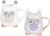"""Кружка """"Owl Family"""" 400мл з керамічною кришкою"""