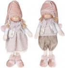 "Набор 2 мягкие игрушки ""Кукла Грейс, кукла Томми"" 17х12х43см, розовый"