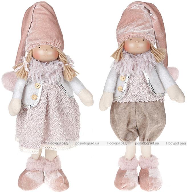 """Набір 2 м'які іграшки """"Лялька Грейс, лялька Томмі"""" 17х12х43см, рожевий"""