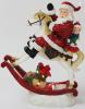 "Новогодняя декоративная статуэтка ""Санта на лошадке"" с LED-подсветкой 27.5х11.6х34см"