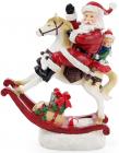 """Новорічна декоративна статуетка """"Санта на конячці"""" з LED-підсвіткою 27.5х11.6х34см"""