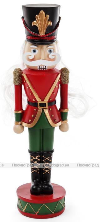 """Статуетка декоративна """"Лускунчик в червоному мундирі"""" 8.8х9х30.7см"""
