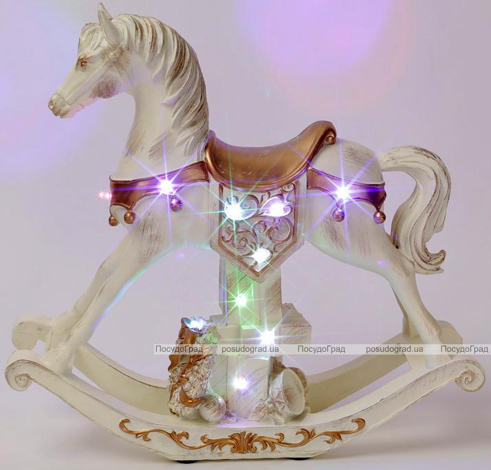 """Музыкальная статуэтка """"Лошадка"""" с LED-подсветкой 35х10.5х33см"""