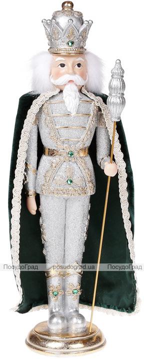 """Декоративна статуетка """"Лускунчик"""" 39см срібло з смарагдом"""