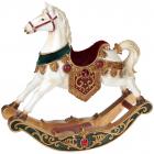 "Статуетка декоративна ""Конячка-качалка"" Luxury 33х9х33см, смарагдово-бордовий оксамит"