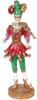 """Фигура декоративная """"Шут-скрипач"""" 15.5х12х39см, красный с зеленым"""