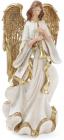 """Фігура декоративна """"Золотий Ангел з флейтою"""" 38см"""