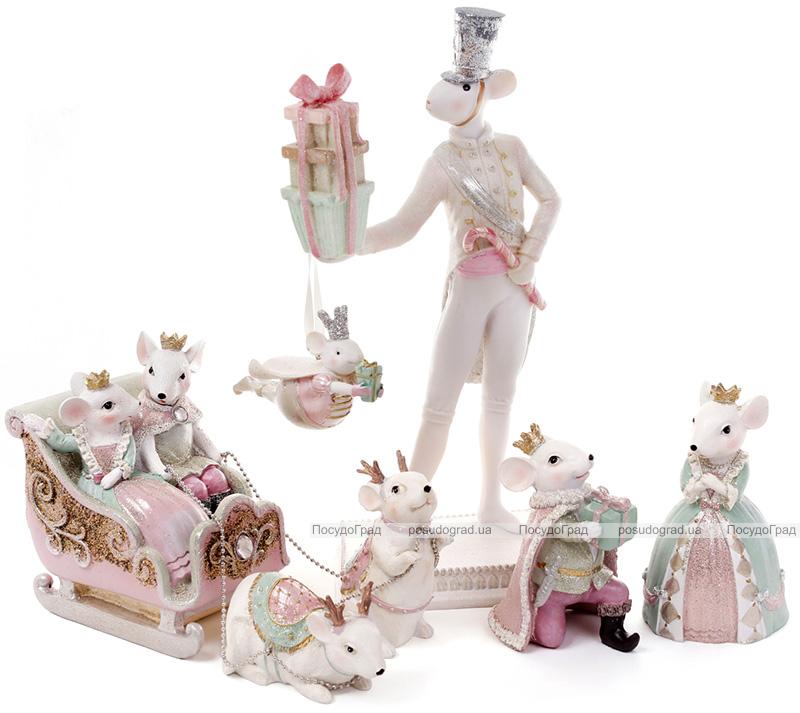 """Набір 2 декоративні фігурки """"Королівська мишка"""" 8.3х7.1х13.2см"""