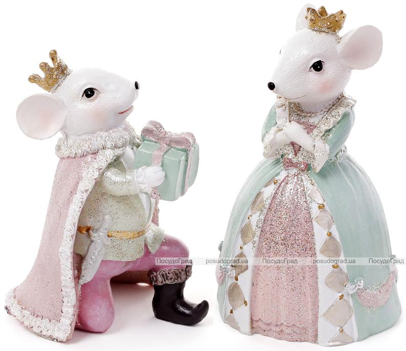 """Набор 2 декоративные фигурки """"Королевская мышка"""" 8.3х7.1х13.2см"""