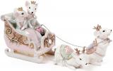 "Декоративная композиция ""Королевские мышки на санях"" 30.2х9х15.2см"