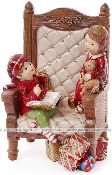"""Декоративна композиція """"Дітки в кріслі"""" 13.5х12х20.5см"""