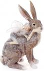 """Статуэтка декоративная """"Фея с кроликом"""" 15.2х13.8х21.7см"""