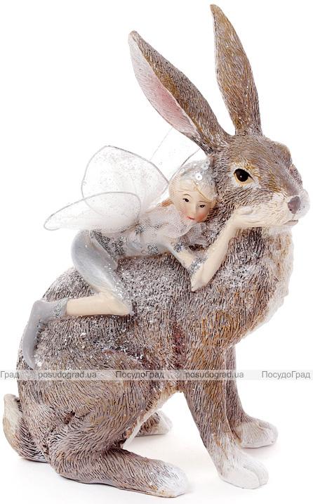 """Статуетка декоративна """"Фея з кроликом"""" 15.2х13.8х21.7см"""