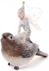 """Статуетка декоративна """"Фея з пташкою"""" 18.2х12.6х18.2см"""