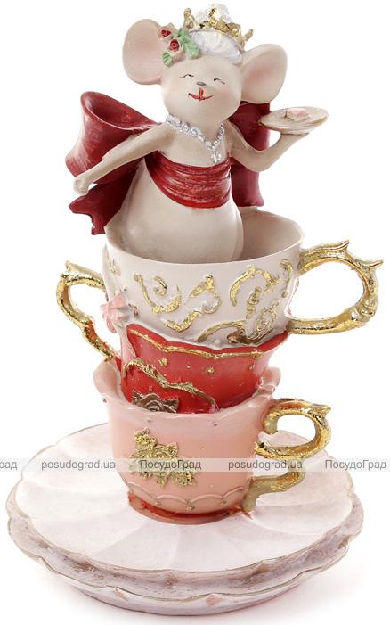 """Декоративна композиція """"Мишка в чашці"""" 10.7х10.7х16.7см"""
