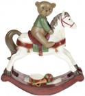 """Статуетка декоративна """"Мишка на конячці-гойдалці"""" 32.5х11х35.5см"""