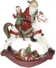 """Статуетка декоративна """"Санта на конячці-гойдалці"""" 32.3х13.8х38см"""