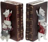 """Декоративний тримач для книг """"Мишки-бібліотекарі"""" 12х18х17см"""