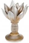 """Підсвічник декоративний Saaling """"Магнолія"""" 14.3х13.3х19.7см, шампань"""