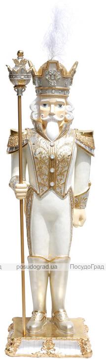 """Декоративная фигура """"Щелкунчик"""" 178см белый с золотом"""