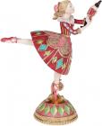 """Декоративна фігура """"Балерина"""" 19.8см бордо з бірюзою"""