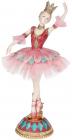 """Декоративна статуетка """"Балерина"""" бордо з бірюзою 23см"""