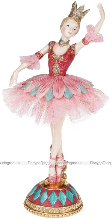 "Декоративная статуэтка ""Балерина"" бордо с бирюзой 23см"