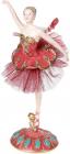 """Декоративна фігура """"Балерина"""" бордо з бірюзою 12.3х12х24см"""