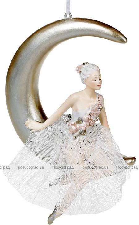 """Фигурка-подвеска """"Балерина на Луне"""" 13.6х3.8х19см"""