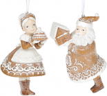 """Набір 2 підвіски """"Санта Клаус і Місіс Клаус"""", полістоун"""