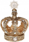 "Декор ""Золотая Корона"" 14.7х14.7х21.1см полистоун, с кристаллами"